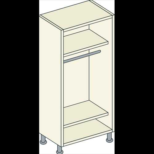 Double Door Single Hanging Unit 2 Shelf - Bretton Park