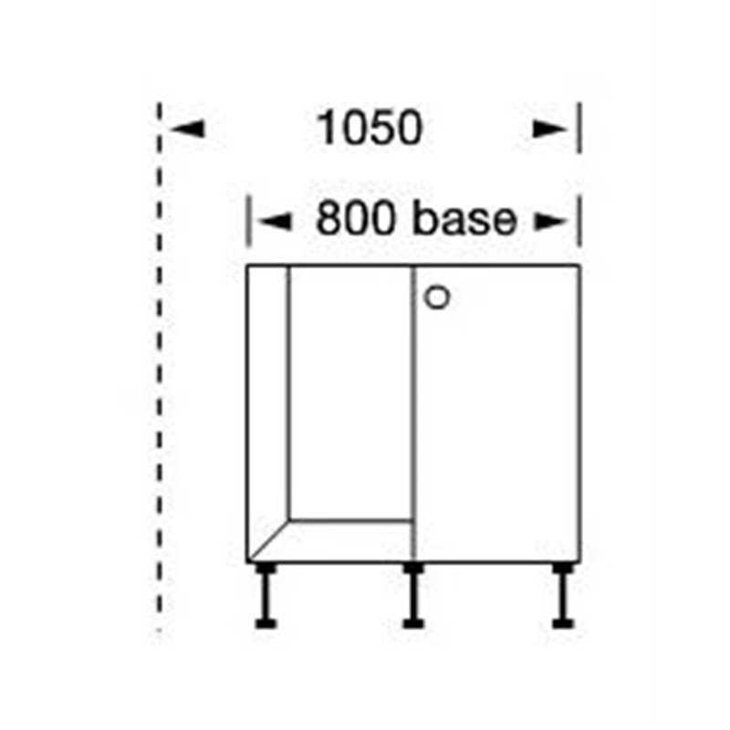 Bretton park matt corner base unit collection 2 bbk direct for Kitchen corner base units 800mm