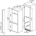 Smeg In-column integrated 60/40 fridge freezer