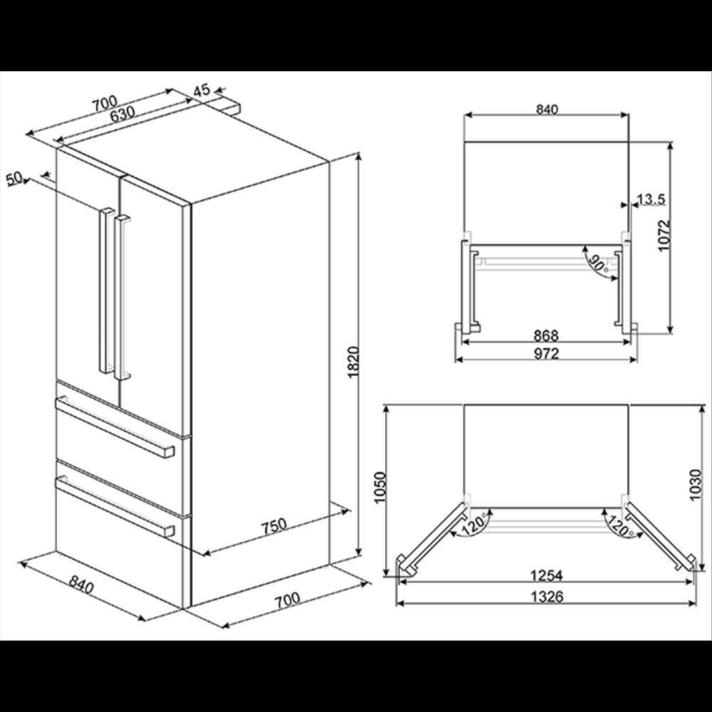 Smeg 2 Drawer 2 Door Refrigerator Freezer 600 Litre