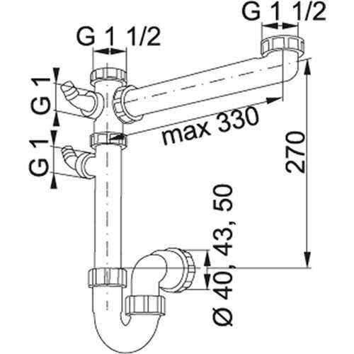 Franke Plumbing Kits Siphon I