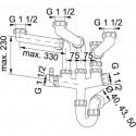 Franke Plumbing Kits Siphon III