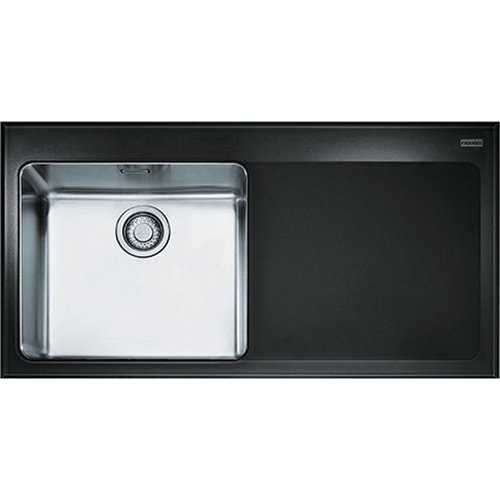 Franke Kubus KBV 611 Glass Black