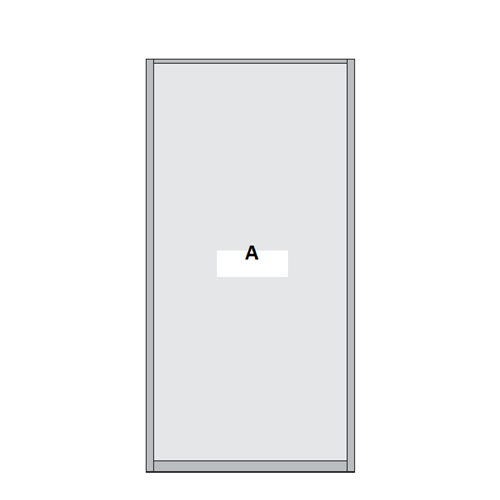 Single Panel Sliding Wardrobe Door