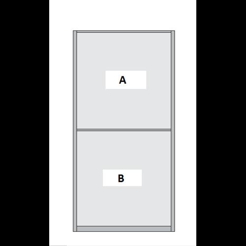 Double Panel Sliding Wardrobe Door