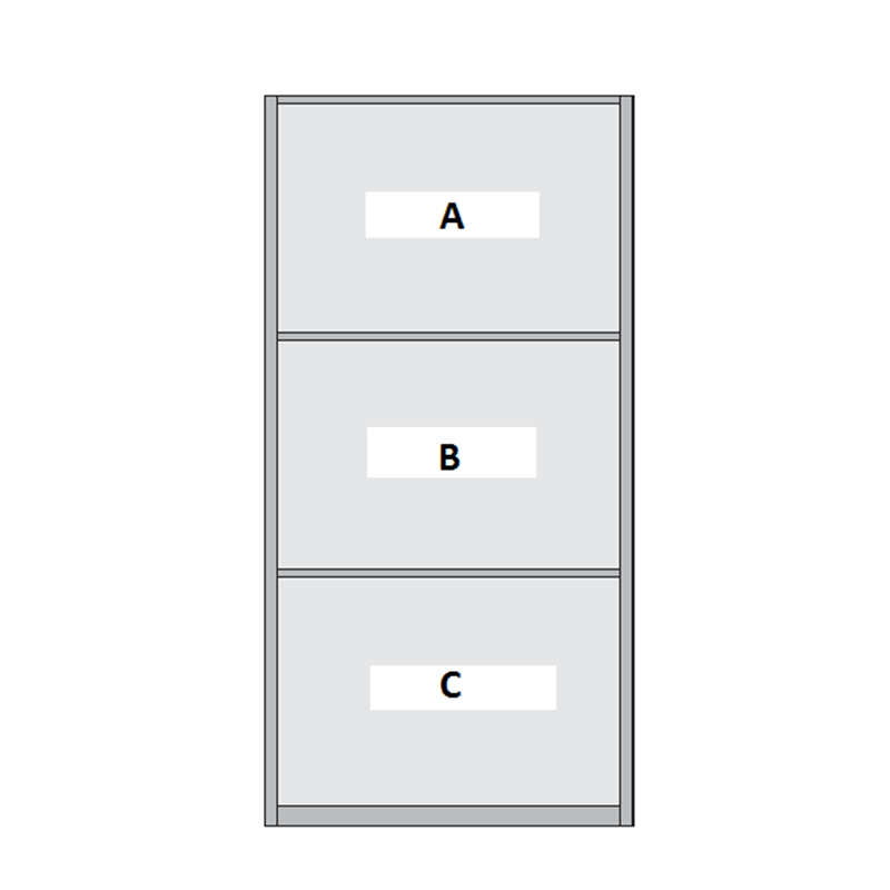3 Panel Sliding Wardrobe Door