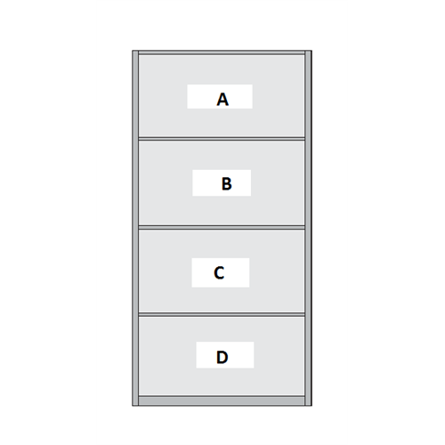 4 Panel Sliding Wardrobe Door