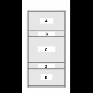 5 Panel Sliding Wardrobe Door