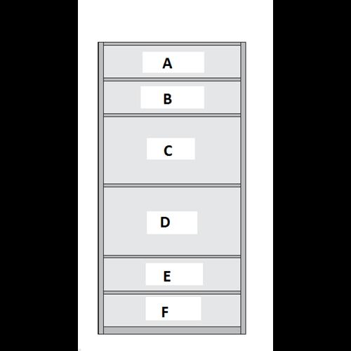 6 Panel Sliding Wardrobe Door