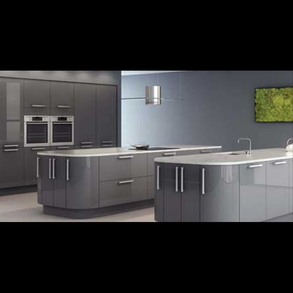 Melbourne Gloss Dark Grey Angled Corner Unit Bbk Direct