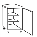 Glenelg Oak - Angled Corner Unit