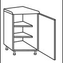 Ticino Gloss White - Angled Corner Unit
