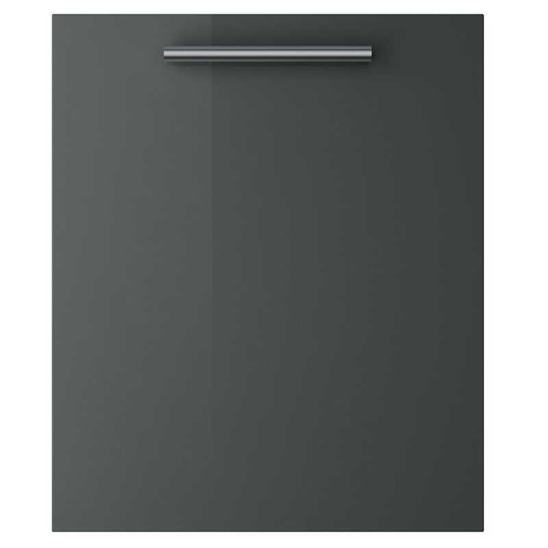 Melbourne Gloss Dark Grey - Glass Wall Unit