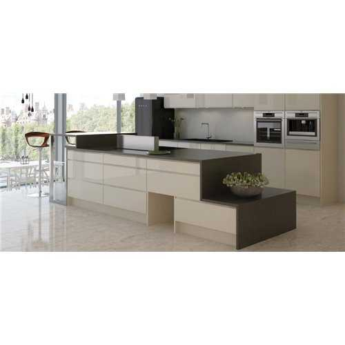 Alento Gloss Ivory - Glass Wall Unit