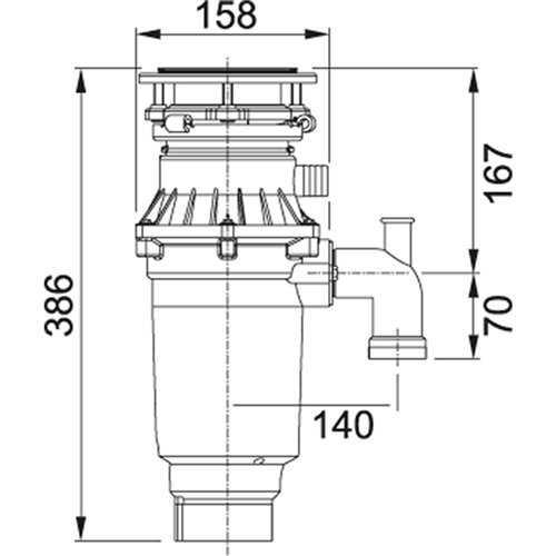 Franke TE-75S Slimline Waste Disposal Unit
