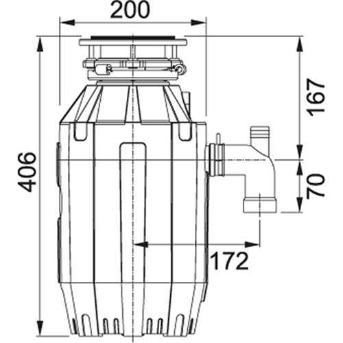 Franke TE-125 Waste Disposal Unit