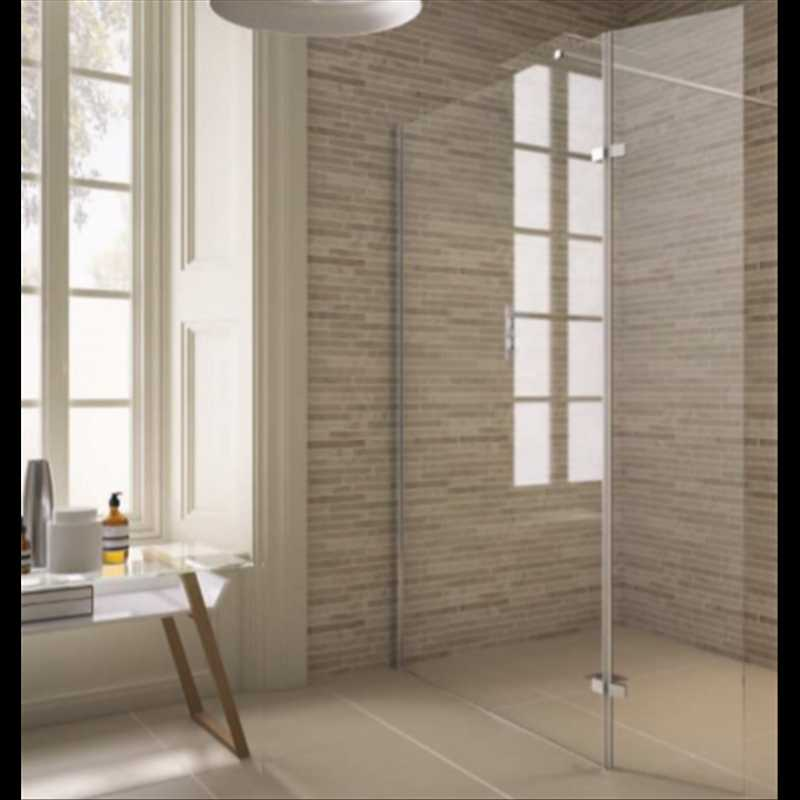 Roma Fixes Shower Screen with Hinged Panel - Bretton Park