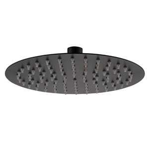 Zane Black Round Shower Head - Bretton Park