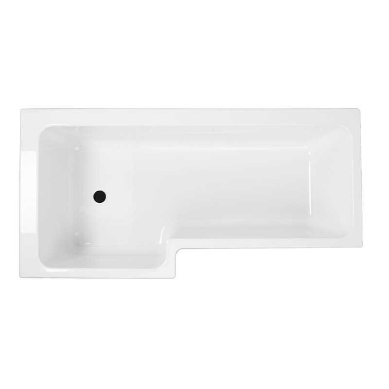 Lopez Acrylic L Shape Shower Bath - Bretton Park