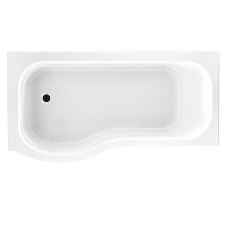 Caspian Acrylic Shower Bath with Screen & Front Panel - Bretton Park