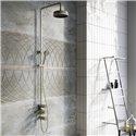 Industrial Brushed Nickel Exposed Valve Shower Pack - Bretton Park