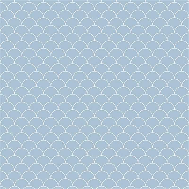Showerwall Scallop Blue