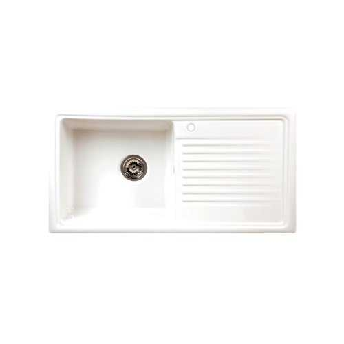 River Liffey Single Bowl Ceramic Sink and Elbe Tap Pack