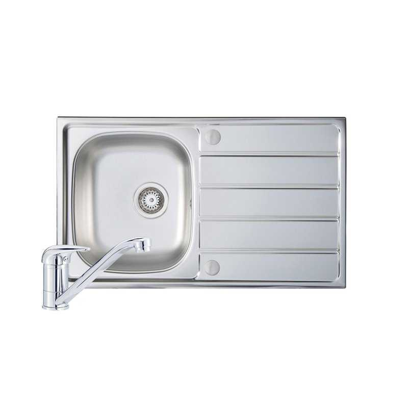 River Stour Single Bowl Stainless Steel Sink and Single Lever Tap Pack