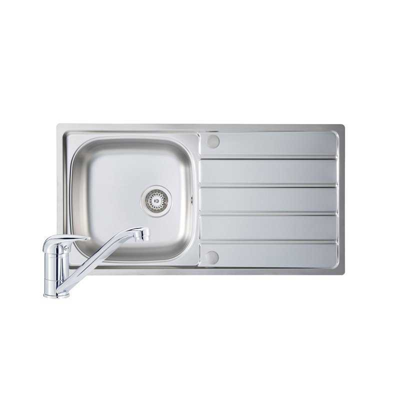 River Humber Single Bowl Stainless Steel Sink and Single Lever Tap Pack