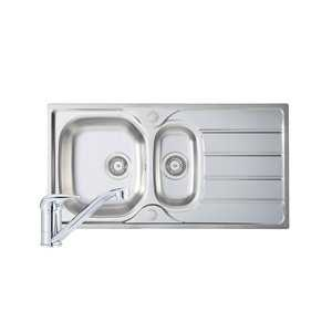 River Mersey 1.5 Bowl Stainless Steel Sink and Single Lever Tap Pack