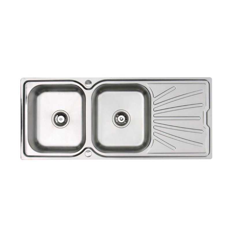 River Yarrow Double Bowl Stainless Steel Sink