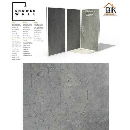 Showerwall Pack - Cracked Grey