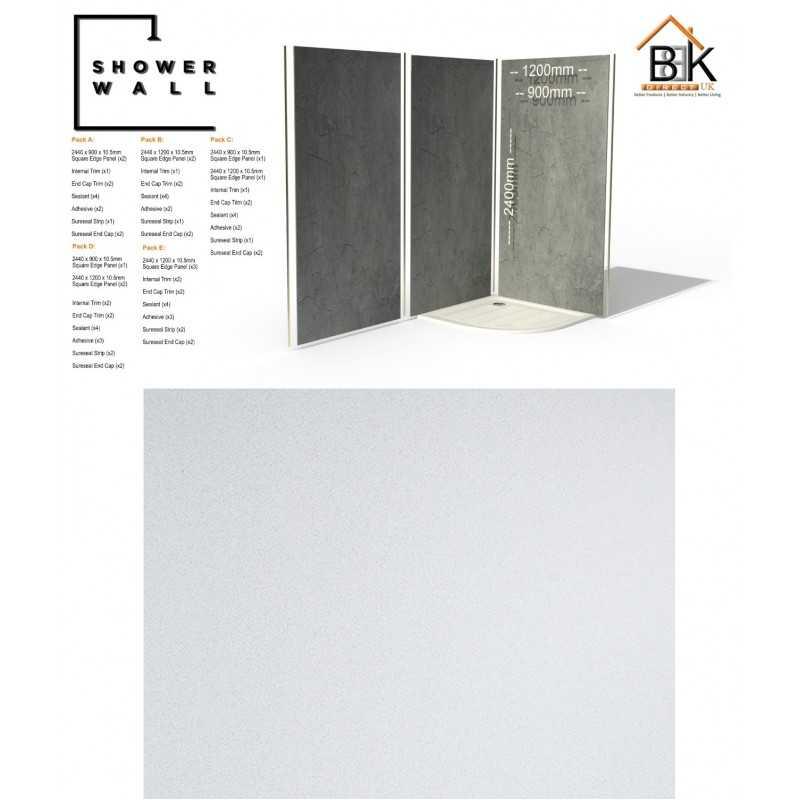 Showerwall Pack - Bianco Stardust
