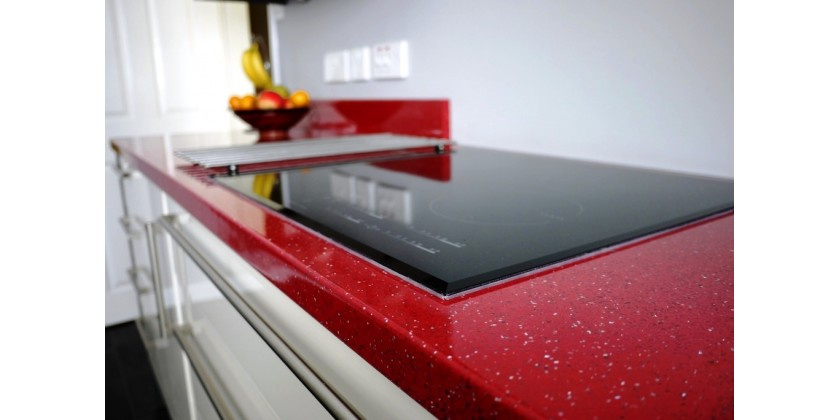 Latest BBK Direct Client Project - Laminate Ruby Quartz Kitchen Inspiration