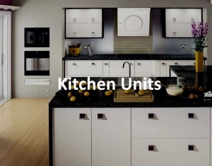 pencil sketch of beautiful kitchen units